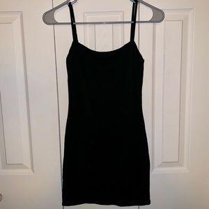 Tobi Tight & Sexy Bodycon Tank Mini-Dress Black